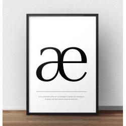 """Skandynawski plakat z literą """"æ"""""""