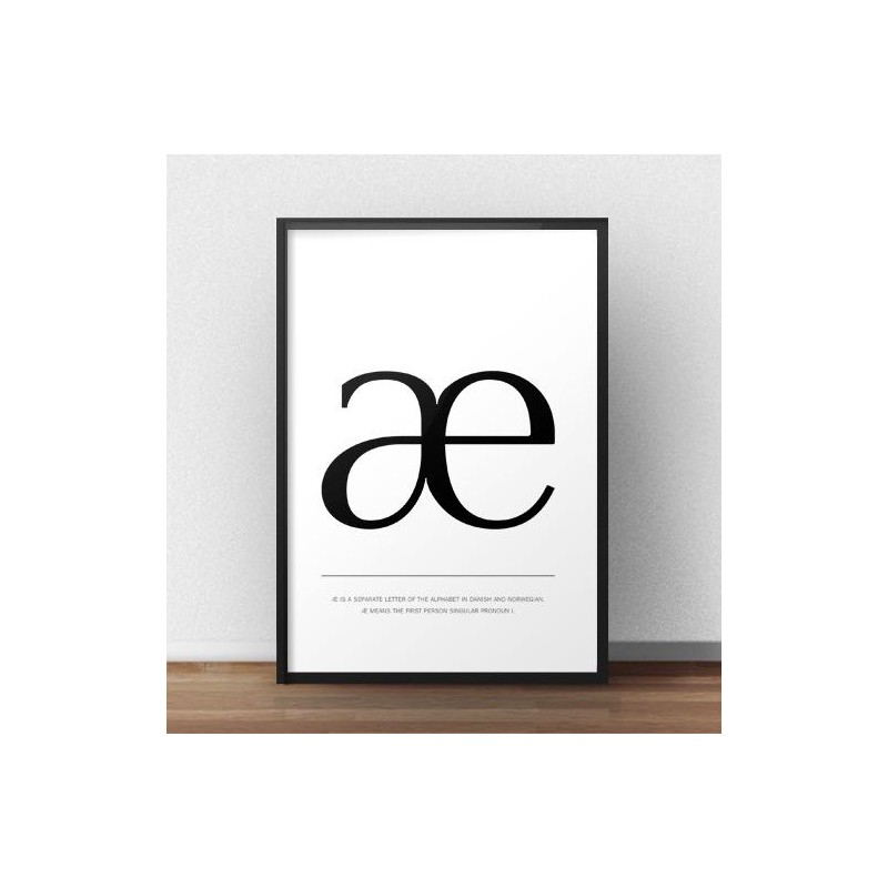Scandinavian poster with the letter æ