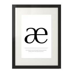 """Typograficzny plakat z literą """"æ"""" do skandynawskich mieszkań"""