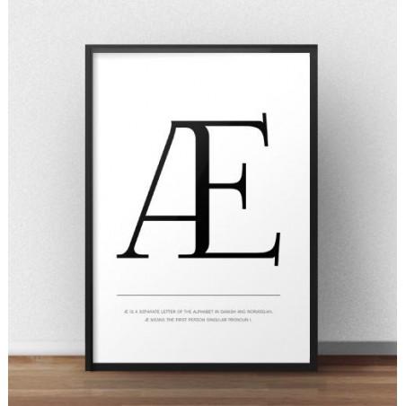 """Skandynawski plakat z dużą literą """"Æ"""""""