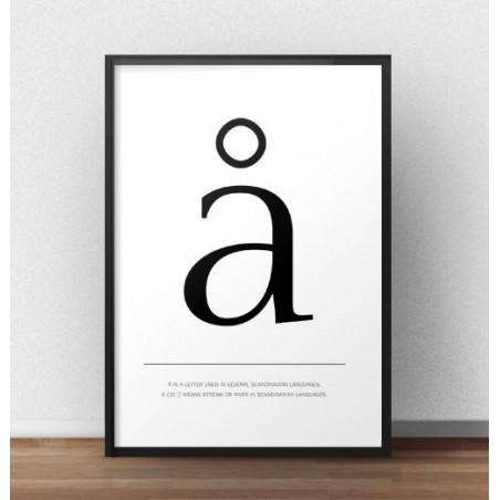 """Skandynawski plakat z małą literą """"å"""""""