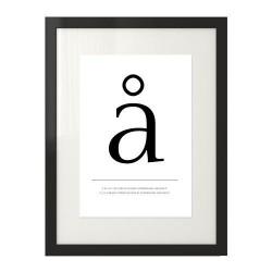 """Plakat w skandynawskim stylu z małą literą """"å"""""""