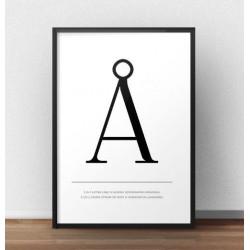 """Skandynawski plakat typograficzny z dużą literą """"Å"""""""