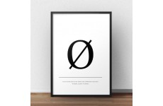 """Skandynawski plakat typograficzny z literą """"ø"""""""