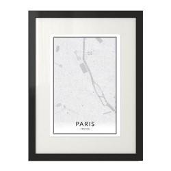 Plakat z mapą śródmieścia Paryża na ścianę