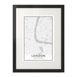 Nowoczesny plakat z mapą śródmieścia Londynu do powieszenia na ścianie