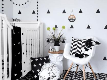 Czarno-biały pokój dla dziecka - czy warto?