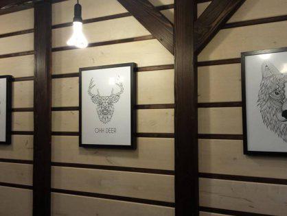 Pomysły Klientów Scandi Poster - skandynawski jeleń na ścianie!