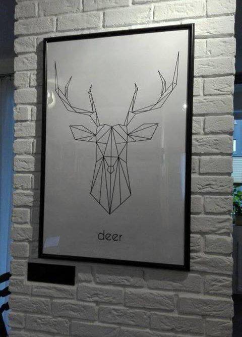 Pomysły Klientów Scandi Poster - szkicowane zwierzęta wkomponowane w domowy klimat